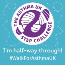 Half way through Asthma UK badge