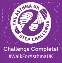 Asthma UK Step Challenge completed challenge badge